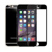 Kit 2 Películas de Vidro Temperado Frente e Verso com Bordas para Apple iPhone 6 (5.5) - Cor Preta