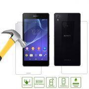 Kit 2 Películas de Vidro Temperado Frente e Verso para Sony Xperia Z2