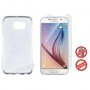 Kit Capa Ultra Slim + Película Fosca para Galaxy S6 - Cor Transparente