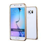 Luxury Bumper em Alumínio para Samsung Galaxy S6 - Cor Dourada
