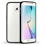 Luxury Bumper em Alumínio para Samsung Galaxy S6 Edge - Cor Preta