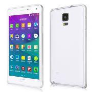 Luxury Bumper em Alumínio para Samsung Galaxy Note 4 - Cor Prata