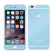 Kit com 2 Películas de Vidro Temperado Coloridas Frente e Verso para Apple iPhone 6 Plus (5.5) - Cor Azul Claro