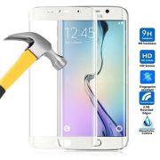 Película de Vidro Temperado Premium Curvada com Borda para Samsung Galaxy S6 Edge - Cor Branca