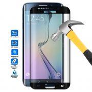 Película de Vidro Temperado Premium Curvada com Borda para Samsung Galaxy S6 Edge - Cor Preta