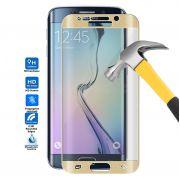 Película de Vidro Temperado Premium Curvada com Borda para Samsung Galaxy S6 Edge - Cor Dourada