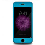 Película de Vidro Temperado e Alumínio de Titânio para Apple iPhone 6 Plus (5.5) - Cor Azul