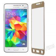 Película de Vidro Temperado Premium Glass com Bordas para Samsung Galaxy Gran Prime Duos G530  - Cor Dourada