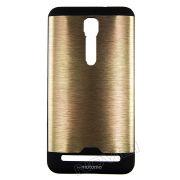 Capa Anti-impacto com Efeito Escovado para Asus Zenfone 2 ZE551ML (5.5) - Cor Dourada