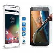 Kit Pelicula de Vidro + Capa de TPU para Motorola Moto G4 Play- Translúcida