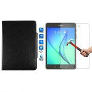 Kit Película de Vidro + Capa para Tablet para Samsung Galaxy Tab A SM-350 - Cor Preta