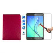 Kit Película de Vidro + Capa para Tablet para Samsung Galaxy Tab A SM-350 - Cor Rosa