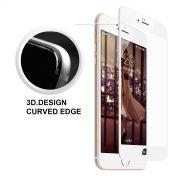 Película de vidro 3D Premium com bordas fibra de carbono para Apple iPhone 6 Plus (5.5) - Bordas Brancas