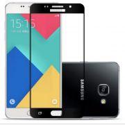 Película de vidro e Fibra de Carbono à Prova Impacto para Samsung Galaxy A7 2016- Bordas Preta