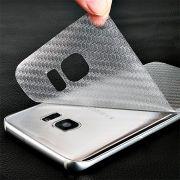 Skin Adesivo Traseira Fibra Carbono Clear para Galaxy S7 Edge