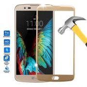 Película de vidro com Bordas para LG K10 K430 - Dourada