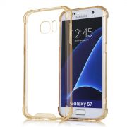 Capa Fusion Shell Anti-Impacto para Galaxy S7 Edge - Cor Dourada