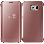 Capa Protetora Clear View Galaxy S7 Edge - Cor Rosa