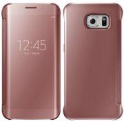 Capa Protetora Clear View Galaxy S7 - Cor Rosa