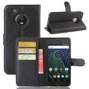 Capa Carteira para Motorola Moto G5 - Cor preta