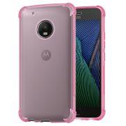 Capa Fusion Shell Anti-Impacto para Motorola Moto G5 Plus- Cor Rosa