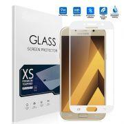 Película vidro com bordas Samsung Galaxy A3 2017 - Bordas Branca