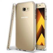 Película de Vidro e Capa Anti Impacto Transparente Samsung Galaxy A7 2017