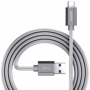 Cabo USB C 3.0 Type C Premium Nylon com Fios de cobre 1m para Samsung Galaxy S8 Plus