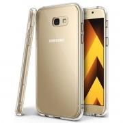 Capa TPU Transparente + Película Silicone/Gel para Samsung Galaxy A7 2017 - Cobre bordas curva