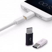 Adaptador Micro USB/8 Pinos para USB Tipo C 3.0 - Compatível com Galaxy S8