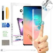 Kit 2 Película Vidro Cola Líquida Uv Galaxy S10 Plus