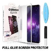 Kit 3 Película Vidro Cola Líquida Uv Galaxy S9 Plus