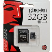 Cartão de Memória microSDHC 32GB Kingston SDC4/32GBSP