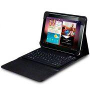 Capa em Couro com Teclado Bluetooth para Samsung Galaxy Tab 10.1 P7500 / P7510