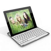 Capa portátil com teclado em alumínio Bluetooth para IPad 2 - Cor Prata