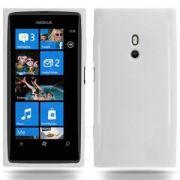Capa TPU Premium + Película protetora para Nokia Lumia 800 - Cor  Transparente