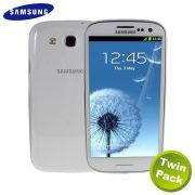 Kit 2 Capas TPU Slim para Samsung Galaxy Galaxy S III S3 GT-I9300 - Transparente - Original