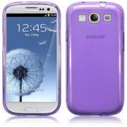 FlexiShield Plus - Capa de TPU Premium + Película Protetora para Samsung Galaxy S III S3 i9300 - Cor Lilás