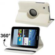 Capa em couro com suporte 360º para Samsung Galaxy Tab 2 7.0 P3100 / P3110 - Cor Bege