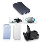 Kit essencial  5X1 para Samsung Galaxy S III S3 i9300 - Original Samsung - Cor Azul cromado