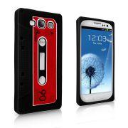 Capa design Fita Cassete para Samsung Galaxy S3 S III i9300 / Cor Preta