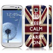 Capa personalizada Keep Calm and Carry  Inglaterra para Samsung Galaxy S3 S III i9300