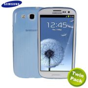 Kit 2 Capas TPU Slim para Samsung Galaxy Galaxy S III S3 GT-I9300 - Azul - Original