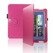 Capa couro Smart Cover para Samsung Galaxy Note 10.1 N8000 / N8100 - Cor  Rosa