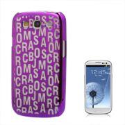 Capa Personalizada Série Alfabeto para Samsung Galaxy S3 S III i9300 - Roxo