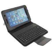 Capa em Couro com Teclado sem fio Bluetooth para Samsung Galaxy Tab 2 7.0 P3100 / P3110 - Preta