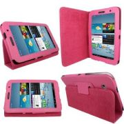 Capa Smart Cover dobravél para Samsung Galaxy Tab 2 7.0 P3100 / P3110 - Cor Rosa