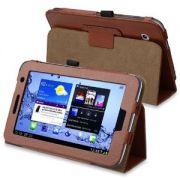 Capa Smart Cover dobrável para Samsung Galaxy Tab 2 7.0 P3100 / P3110 - Cor Marron