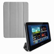 Capa Smart Cover Dobrável para Samsung Galaxy Note 10.1 N8000 / N8100 - Cor Cinza