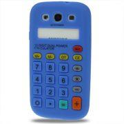 Capa Personalizada Retro Calculadora para Samsung Galaxy S3 S III i9300 - Azul